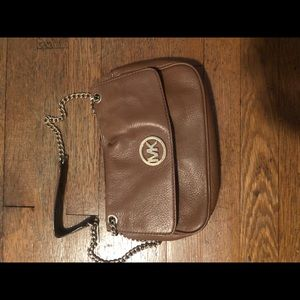 Michael Kors cross body tan leather bag
